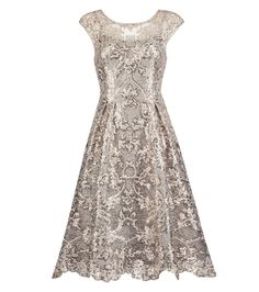Luminary Sequin Lace Fit & Flare Dress