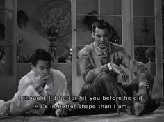 "Cary Grant and James Stewart in The Philadelphia Story:""Well, you'll do."""
