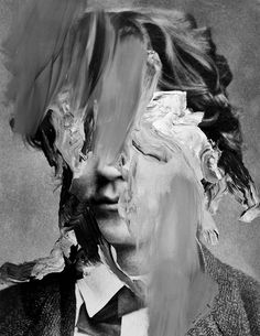 "deadsymmetry: "" Bo Christian Larsson "" I'm not sure why I really love that kind of portrait. Glitch Art, Arte Peculiar, Photocollage, A Level Art, Foto Art, Gcse Art, Rembrandt, Land Art, Oeuvre D'art"