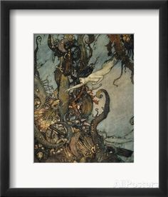 Andersen: Little Mermaid Framed Giclee Print by Edmund Dulac - AllPosters.co.uk