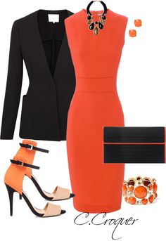 """Shades of Orange"" by ccroquer on Polyvore"