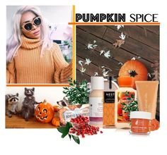 """Pumpkin time!"" by strange-girl0 ❤ liked on Polyvore featuring Nesti Dante, MyChelle Dermaceuticals, Nest Fragrances, Kate Somerville, Ilike Organic Skin Care and pumpkinspicebeauty"