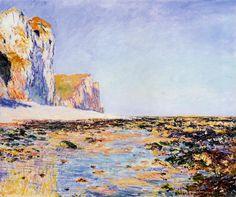 Beach and Cliffs at Pourville, Morning Effect Claude Monet -