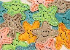 EXCLUSIVE Starfish felt applique embellishments by EmbroiderThat, $3.95