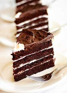 The Best Chocolate Cake - seriously! This is my go to recipe!! I make this as mini chocolate cupcakes with peanut butter icing and people ALWAYS ask me my recipe because they are so moist and decadent!