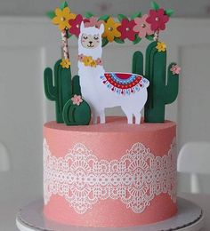 Birthday party dcoration pastel ideas for 2019 Colorful Birthday Party, 13th Birthday Parties, Birthday Party Decorations, Llama Birthday, Girl Birthday, Cake Birthday, Fiesta Cake, Mexican Birthday, Party Cakes