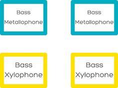 Mrs. Q's Music Blog: Freebie: Barred Instrument Labels