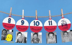 1 12 Month Fishing Bobber Photo Banner The Big One Fishing