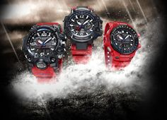 The G-SHOCK Master of G tough men's watch collection adapted and evolved to respond successfully to conditions in the Sky, on Land and At Sea. Mens Watches Uk, Casio G Shock Watches, Casio Watch, Unusual Watches, Cool Watches, Dream Watches, Wrist Watches, Luxury Watches, Grey Knee High Boots
