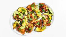Chipotle-Rubbed Chicken Sheet-Pan Dinner Recipe | Bon Appetit