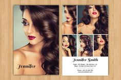 Model Comp Card Template   Modeling comp card   MS Word, Photoshop ...