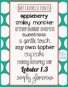 Favorite Free Fonts