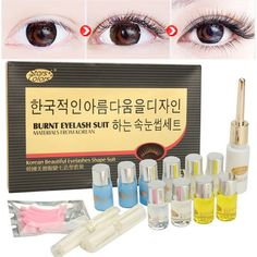 Eyelashes Wave Lotion Curling Perming Curler Glue Perm Lotion Kit Full Set