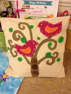 Canvas pillows! Make one at your next Lollipop bday www.lollipopartlounge.com