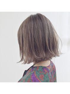 《SHIMA×望月》切りっぱなしボブ×外国人風グレージュ - 24時間いつでもWEB予約OK!ヘアスタイル10万点以上掲載!お気に入りの髪型、人気のヘアスタイルを探すならKirei Style[キレイスタイル]で。