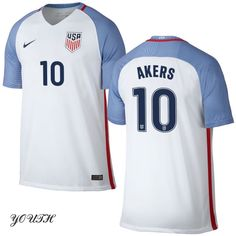 16/17 Michelle Akers Youth Home Jersey #10 USA Soccer