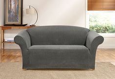 Photo of Simple Stretch Ribbon Stripe One Piece Slipcovers