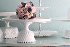 Milk Glass Cake Stand / 14 Cake Plate / Cake by TheRocheStudio, $160.00