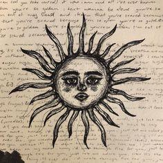 Doodle Drawings, Art Drawings Sketches, Cute Drawings, Art Sketchbook, Drawing Journal, Grunge Art, Funky Art, Hippie Art, Collage Art