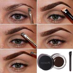 Waterproof Makeup Eye Cosmetic Eyeliner Brow Enhancers Eyebrow Gel With Brush