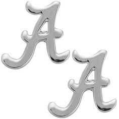 Alabama Crimson Tide Logo Stud Silver Tone Earrings