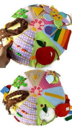 Eco activity pillow/Baby toys/Busy pillow/Toddler busy