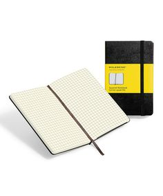 Moleskine journals are my favorite! Lots of styles are on sale at Zulily. :: Black Large Squared Notebook