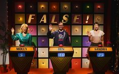 Quiz Show, on at the Traverse in Edinburgh, is a comitragedy which asks the wrong questions, writes Mark Brown. National Theatre Of Scotland, The People Next Door, Edinburgh International Festival, John Tiffany, Tv Set Design, Stage Design, Princess Of Spain, Science Festival, Art History
