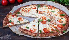 Fitness pizza Margherita z květákového těsta + Videorecept