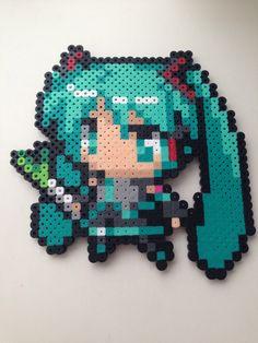 Miku hatsune vocaloid Hama beads