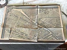 Une Carte De Paris Dessinée à La Main - Restoration hardware paris map
