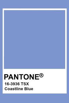Pantone Coastline Blue Pantone Color Chart, Pantone Colour Palettes, Pantone Swatches, Color Swatches, Blue Colour Palette, Colour Schemes, Purple Color Names, Pantone Blue, Everything Is Blue