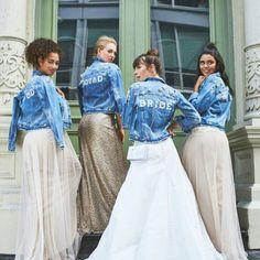 "708 Likes, 33 Comments - WEDDING (@weddingmagazine) on Instagram: ""Hellooo, bridal denim! Do you love this look? #regram @brideside  #weddimg #wedstagram…"""