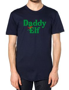 2240b02300c Daddy Elf Christmas T Shirt Santa Family Matching Tops Baby Mummy Elves  Sprout