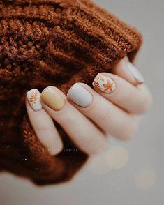 Acrylic Short Nails Art Ideas In Fall - Nail Art Connect Fall Acrylic Nails, Fall Nail Art, Autumn Nails, Nail Polish Trends, Nail Trends, Short Nails Art, Trendy Nails, Nailart, Beautiful