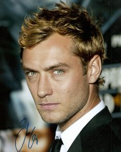 jude law   Those eyes, that accent. I think I should have been born in the U.K.