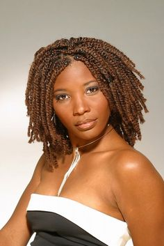 Senegalese medium twist hairstyles for dark brown hair