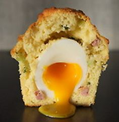 """""""The Rebel Within"""" from Craftsman & Wolves, a restaurant in San Francisco (a Tutitorial) _ """"The Rebel Within"""" is a buttery, cheesy, sausage flecked muffin with a soft-cooked egg in the center. The egg yolk in the muffin should be soft and runny with the oozing yolk dripping like liquid gold onto the plate. OMG must try this **"""