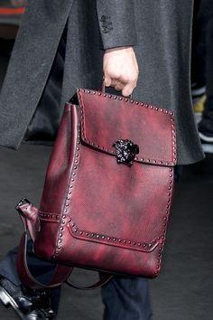 2bc78b95bec4 Versace   Fall 2017 Men s Details Versace Bag, Versace Fashion, Versace  Backpack, Mens