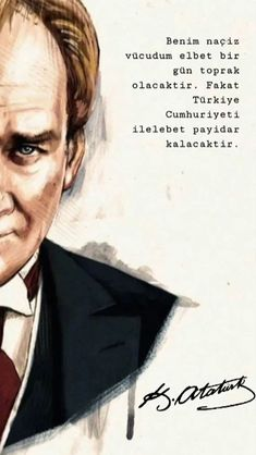 Most Beautiful ATATÜRK Wallpapers – Güzel Sözler & Mesajlar – Join in the world of pin Ataturk Quotes, Good Sentences, Great Leaders, Historical Pictures, Noragami, Quote Posters, Wallpaper Backgrounds, Wallpapers, Photo And Video