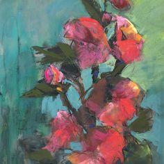 "Ginny Stocker Art on Instagram: ""Hollyhocks 12x9  Pastel  #create30challenge #ginnystockerart #floralart #hollyhocks #dailyspaintings #newmexicoflowers #artistssupportpledge"""