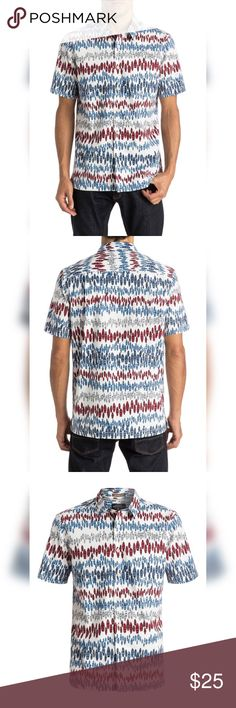 🏄 Quicksilver Waterman La Paloma Aloha Shirt NWT NWT Quicksilver Waterman La Paloma aloha shirt in the red, white and blue surfboard print. Size large. Great for work or play. Love how the Quicksilver Waterman collared shirts fit. Quicksilver Waterman Shirts Casual Button Down Shirts
