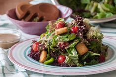 Spinach Frisee and Strawberries Salad! A light and refreshing salad that will remind you the spring. Recipe by greek chef Akis.