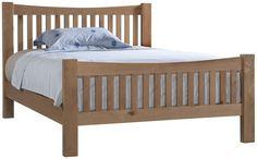 Abbey Oak 3' Single High Foot End Bed