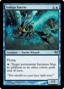 Indigo Faerie (Eventide) - Gatherer - Magic: The Gathering Indigo, Magic The Gathering Cards, Alternative Art, Collector Cards, Magic Cards, Faeries, Character Inspiration, Card Games, Art Cards