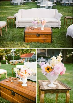 Our wedding was featured on The Wedding Chicks!  outdoor wedding lounge ideas