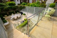 A terraced garden at the rear of a Chelsea townhouse that was looking tired and in need of rejuvenation to the planting and the hard-landscaping. Townhouse Garden, London Townhouse, Terrace Garden, Chelsea, Gardens, Patio, Landscape, Street, Planting