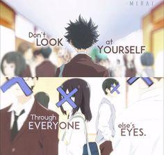 Anime: Koe no Katachi Naruto Quotes, Sad Anime Quotes, Manga Quotes, A Silent Voice Manga, Voice Quotes, Manga Anime, Pinterest Instagram, Dark Quotes, Anime Life
