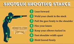 Infographics: Shotgun Shooting Stance