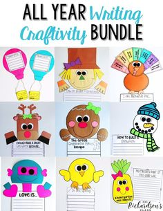 Looking to have some writing assessments made FUN?! Use these writing crafts to display that your students are able to properly use writing conventions! They are sure to love them and hey, who doesn't love a purposeful and cute art project?